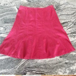 Larry Levine Red Denim Stretch Skirt! Gorgeous!